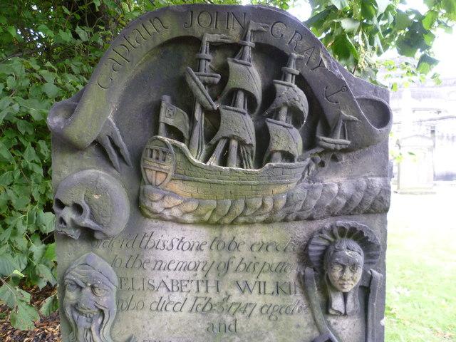 Captain John Gray's stone (detail)