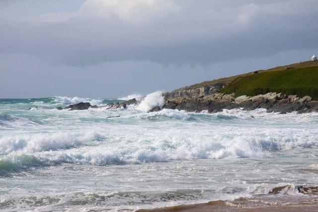 Rocky headland from Fistral Beach