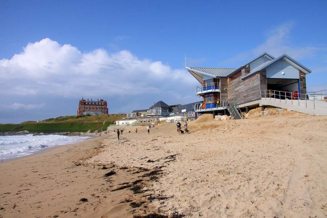 Lifeguard station on Fistral Beach
