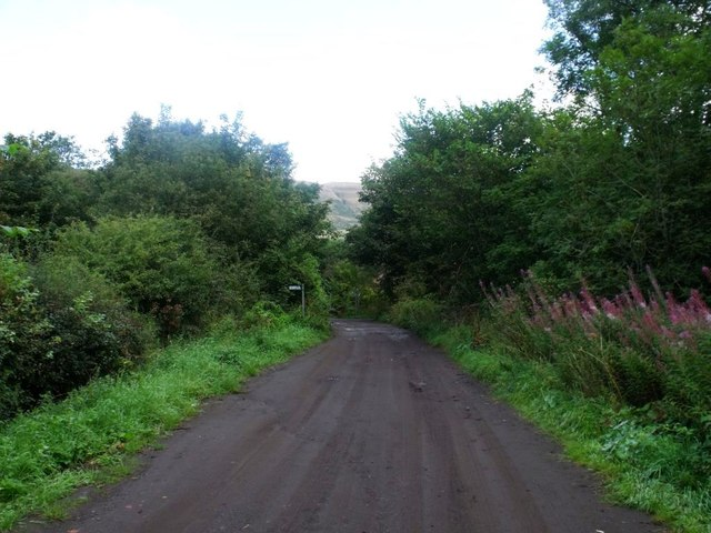 Lennoxtown, road from Finniescroft Wood