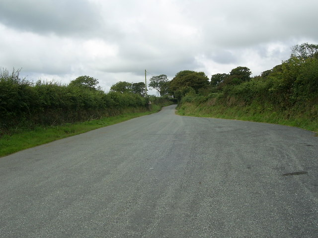 Passing place on a single track road
