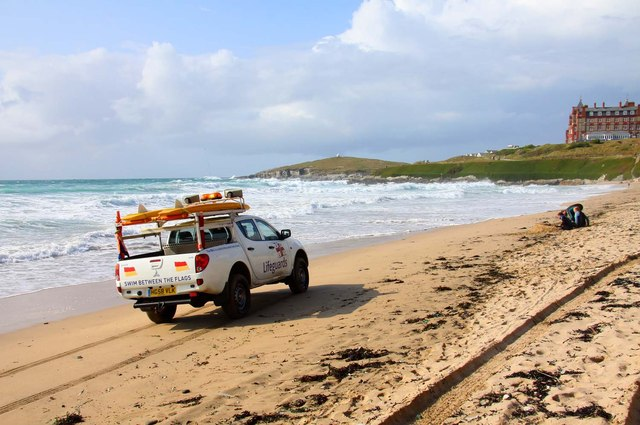 Lifeguards on Fistral Beach