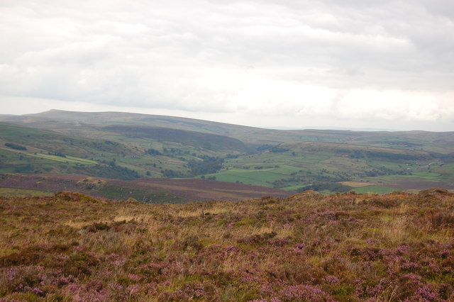 View north from the northern slope of The Roaches