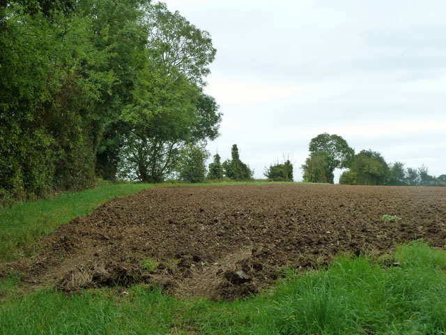 Recently ploughed field