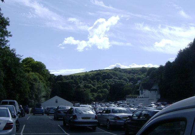 Crumplehorn car park on Bank Holiday Monday