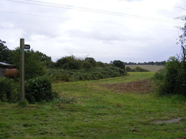 Footpath to Travellers Road & Hill Farm