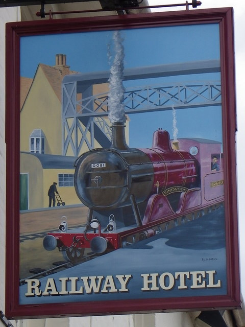 Sign for the Railway Hotel