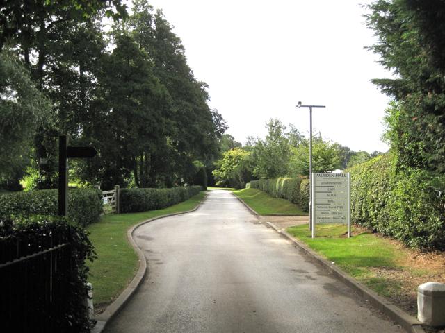 Drive to Meriden Hall developments