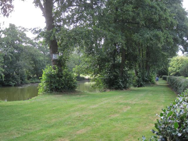 Private lake near Meriden Hall
