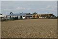 SP2481 : Solar panels on a barn roof, Berry Fields Farm  by Robin Stott