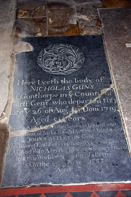 St Mary, Gunthorpe - Ledger slab