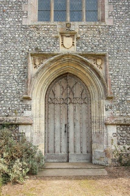 St Peter & St Paul, Heydon - West doorway