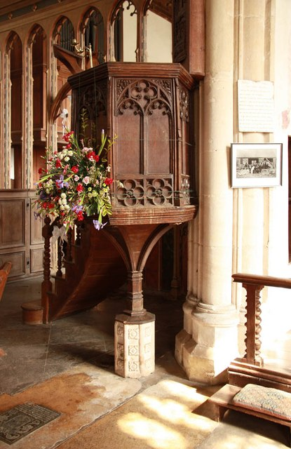 St Peter & St Paul, Heydon - Pulpit