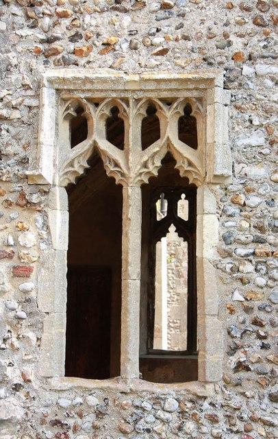 St Peter & St Paul, Heydon - Porch window