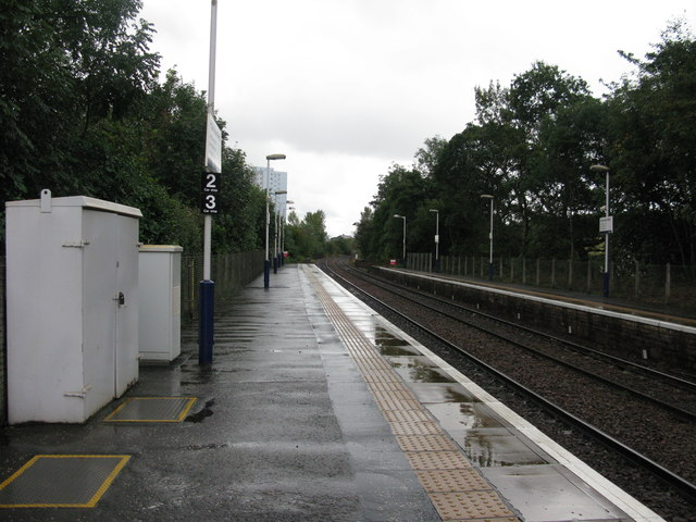 Pollokshaws West railway station, looking South-West