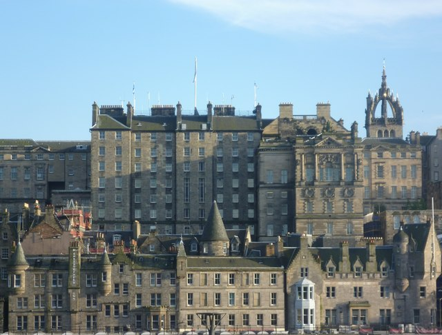 Back of the High Street from Princes Street