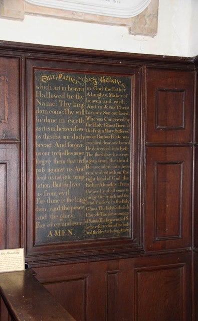St Andrew, Thurning - Lord's Prayer & Credo
