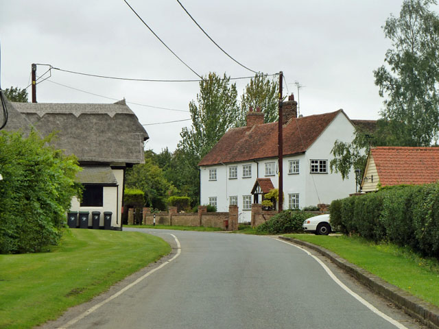 Buildings on Rands Road, High Roding