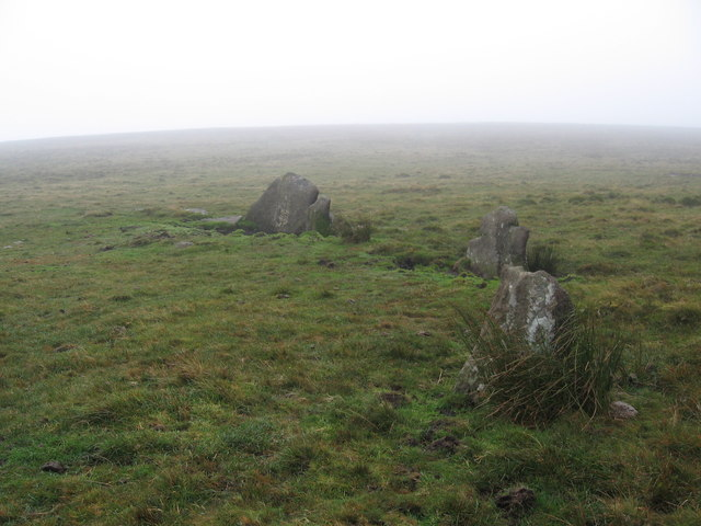 Remains of stone circle, Hexworthy