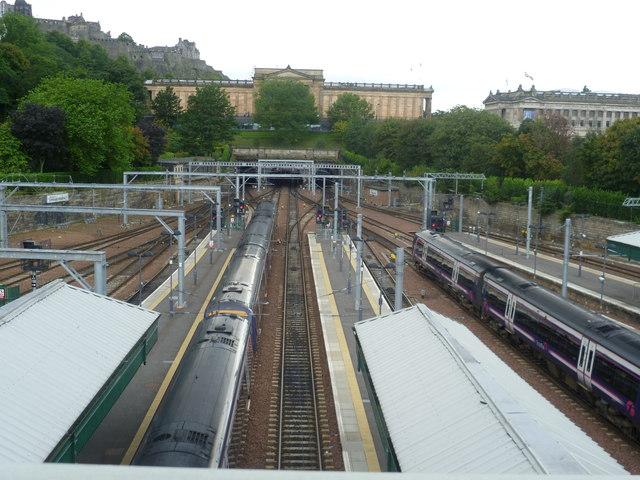 View from Waverley Bridge