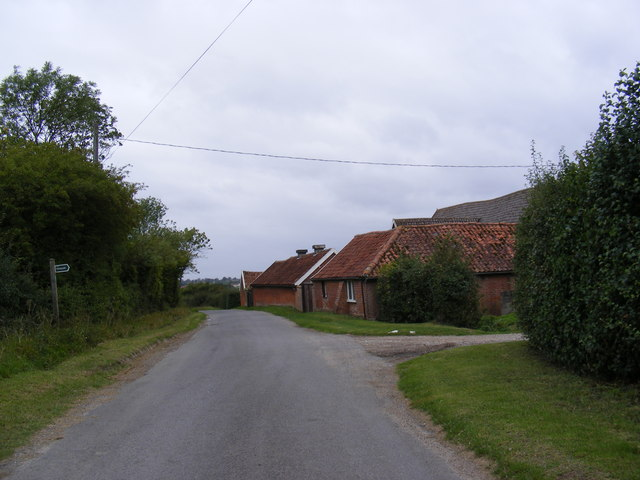 Framsden Road & Footpath to the A1120