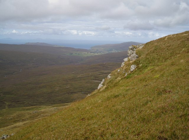 Over the edge of Healabhal Mhòr