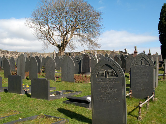 Cemetery on north side of Moel-y-Gest