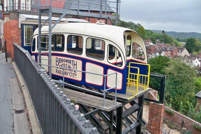 Castle Hill Cliff Railway -Bridgnorth