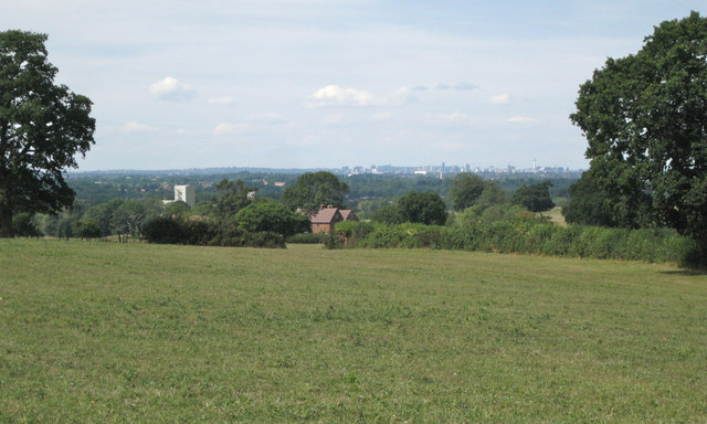 Field with a view of Birmingham