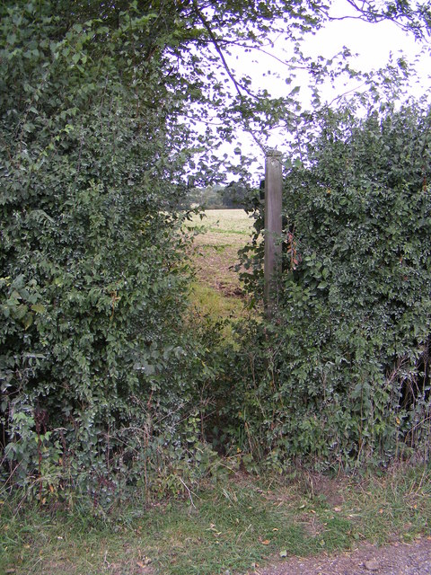 Footpath to Framsden & Otley Roads