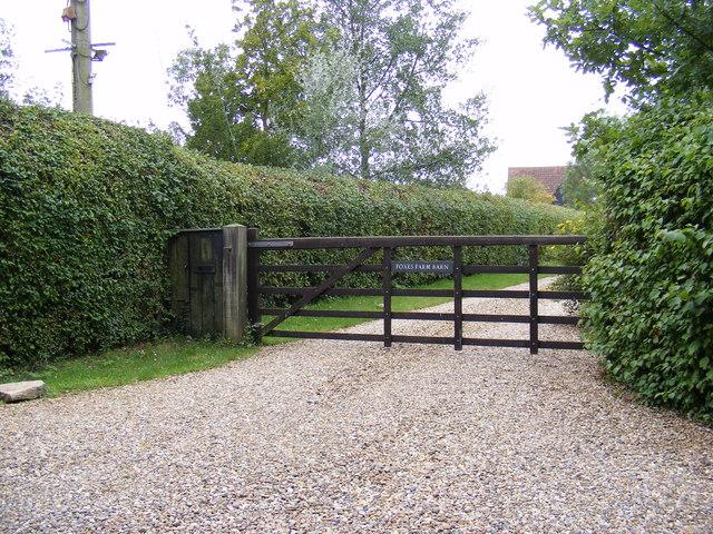 The Entrance to Foxes Farm Barn