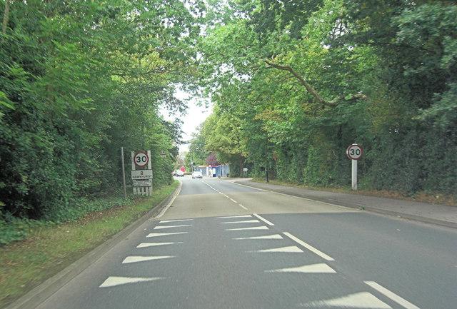 A268 enters Hawkhurst