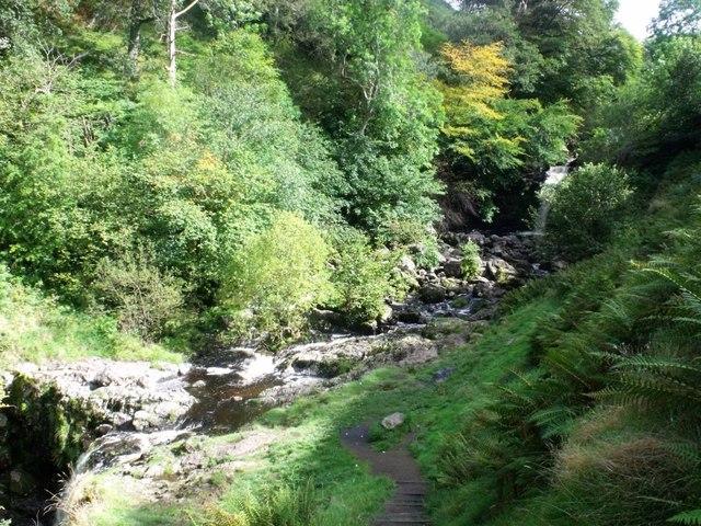 Campsie Fells, waterfall on Kirk Burn