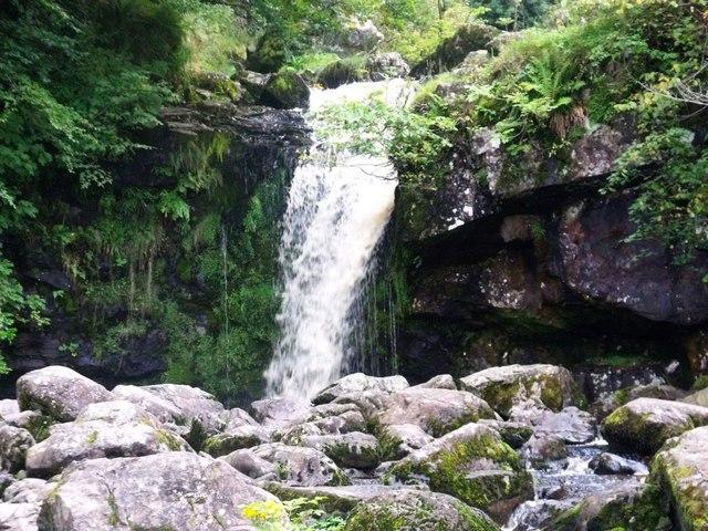 Campsie Fells, waterfall on Kirk Burn [4]