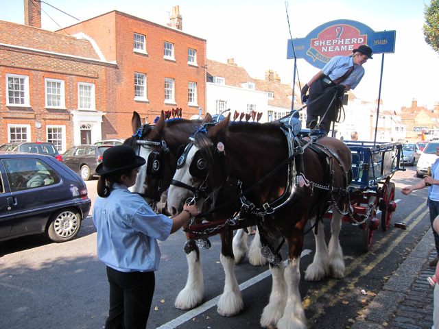 Shepherd Neame horses and cart