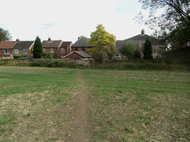Public Footpath exit on to Station Road, Low Ackworth
