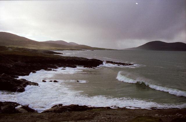 Atlantic waves on west coast of Harris