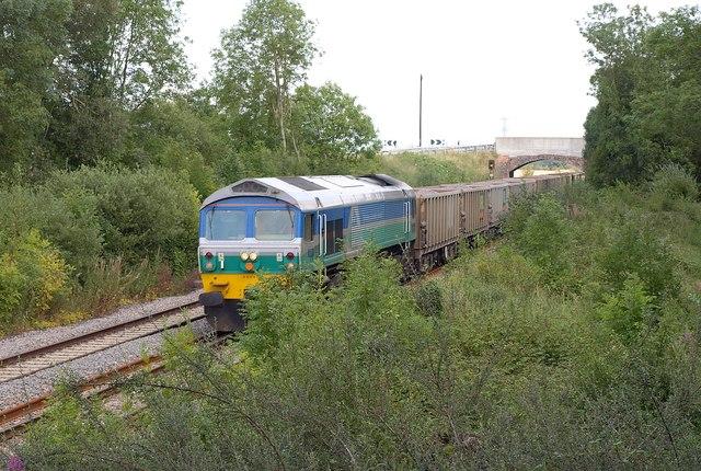 Goods train near Patney