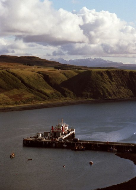 The pier at Uig
