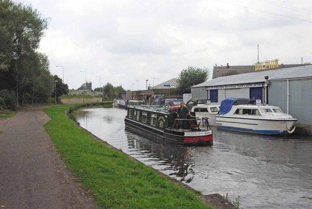 Boatyard on the Trent & Mersey