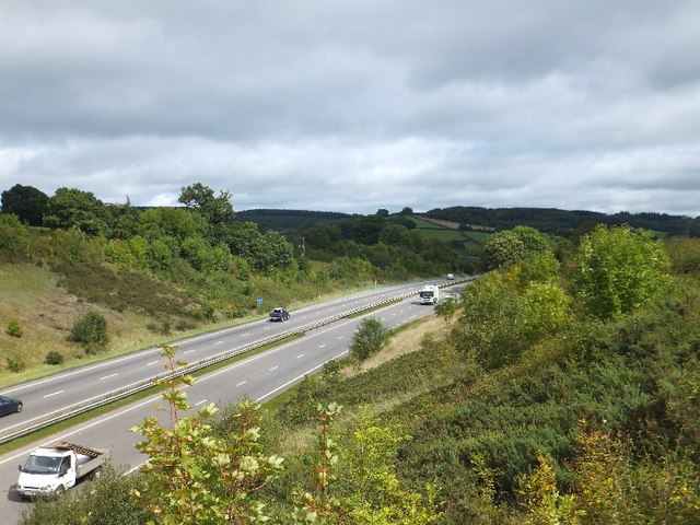 A38 in cutting north of Filleigh