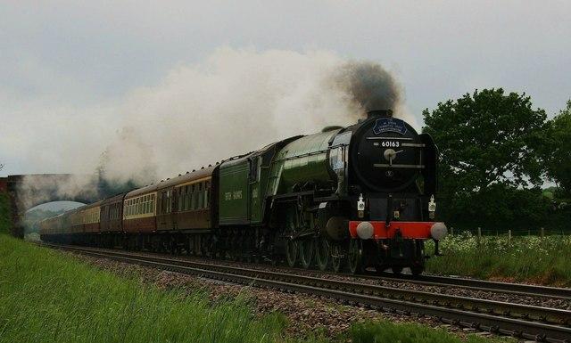 Steam train at Sharcott, Wiltshire.