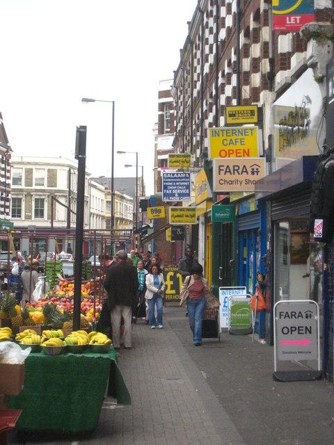 North End Road street market