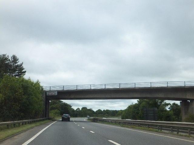 B3193 bridge over A38