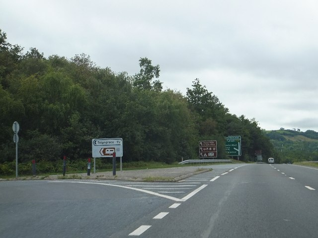 Road to Teigngrace from A38