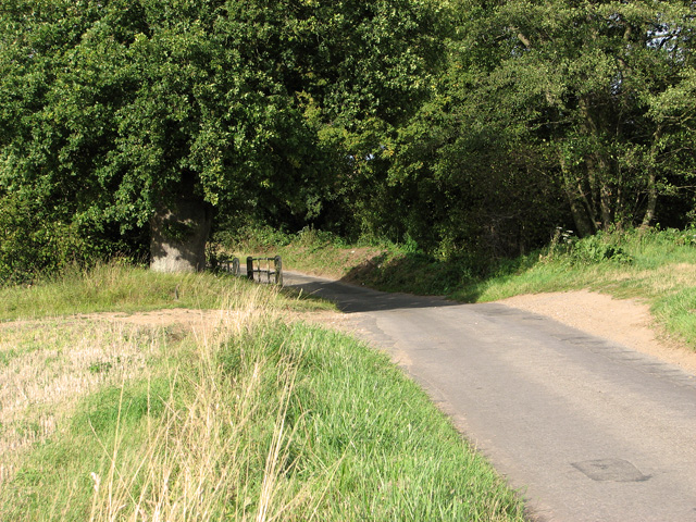 Unbridged ford on Brown's Lane, Holme Hale