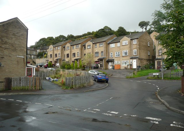 Workhouse Lane and Featherbed Close, Greetland