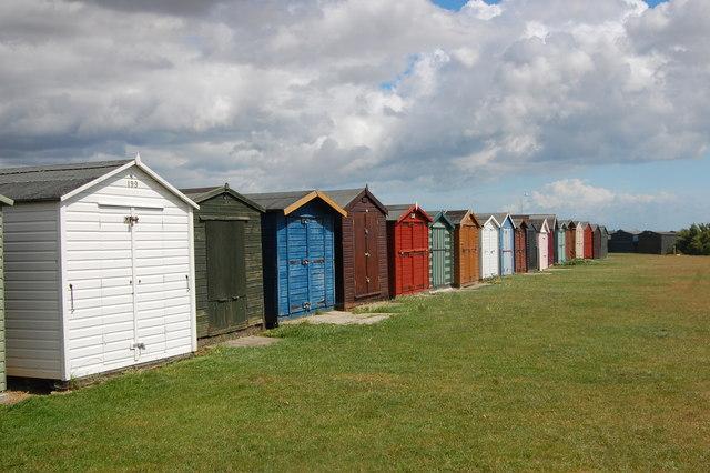 The Essex Way 168: beach huts at Dovercourt