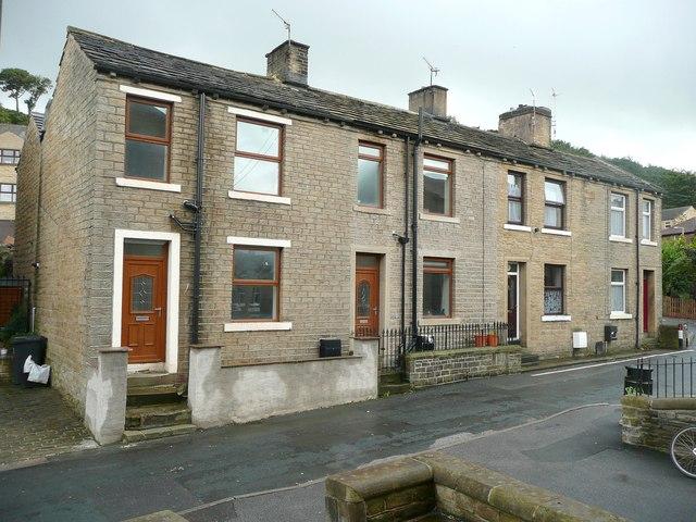 Four houses, Green Lane, Greetland