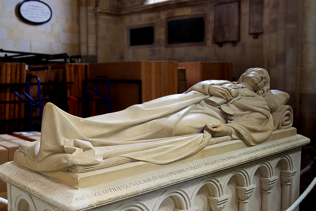 Sir William Petty monument - Romsey Abbey